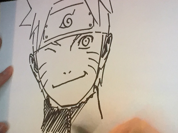 Masashi Kishimoto live-sketching Naruto at his New York Comic Con panel